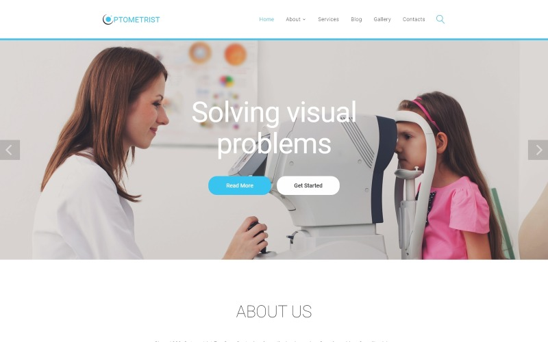 Optometrist - Medical Clinic Responsive Clean HTML Website Template