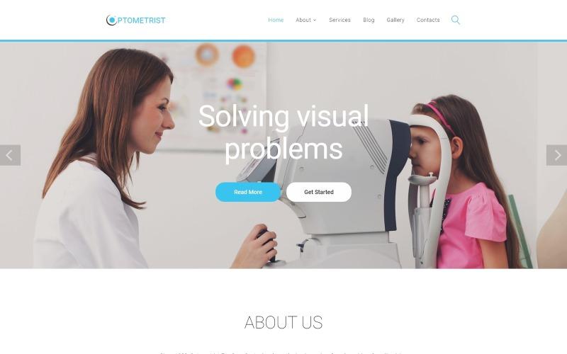 Optometrista - Plantilla de sitio web HTML limpio receptivo para clínica médica
