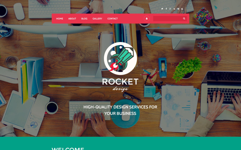 Rocket Design Drupal Vorlage