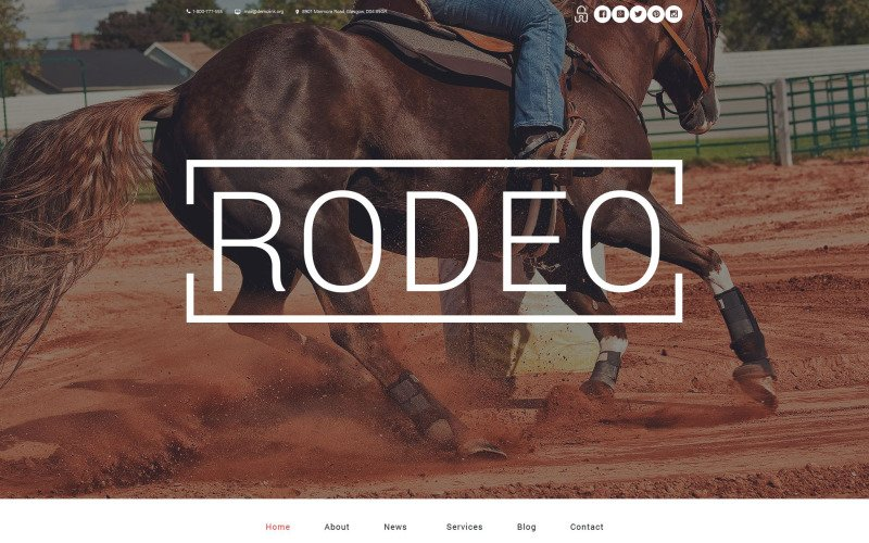 Rodeo Arena WordPress Theme