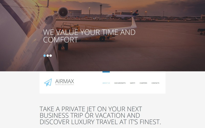 Airmax - Private Airline Moto CMS 3 Template