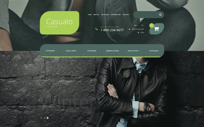 Casualo OpenCart Template