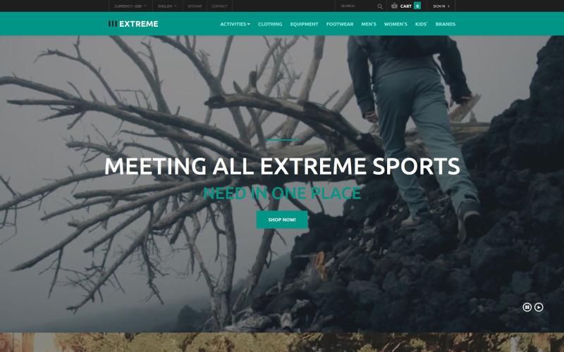 Clothing for Extreme Sports PrestaShop Theme