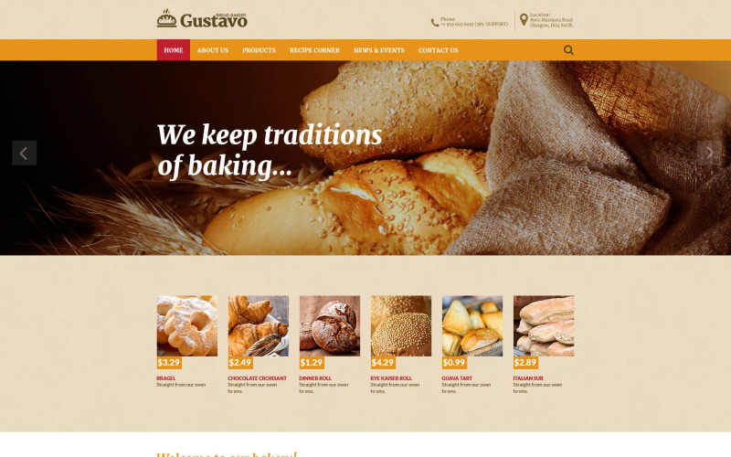 Gustavo Website Template