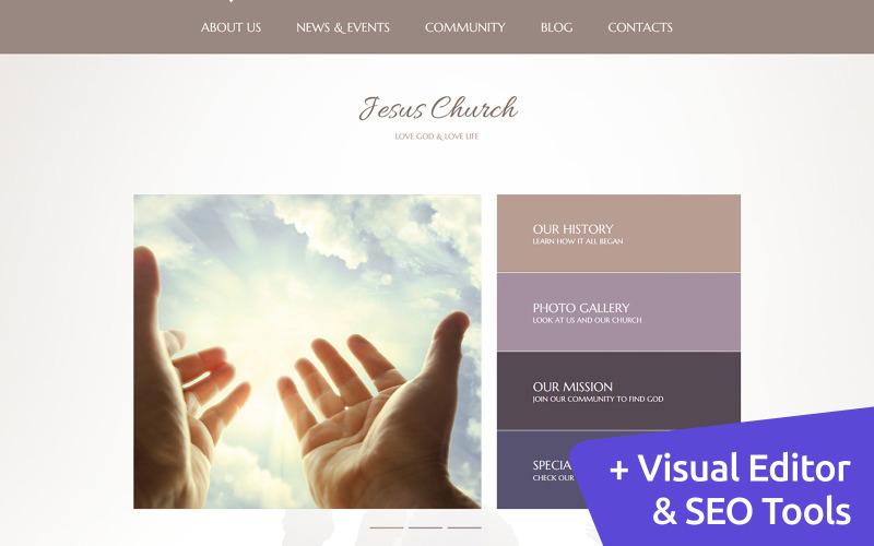 Jesus Church Moto CMS 3 Template