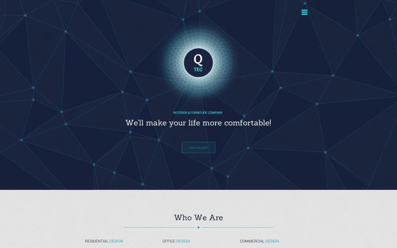 Modello di sito Web di mobili interni