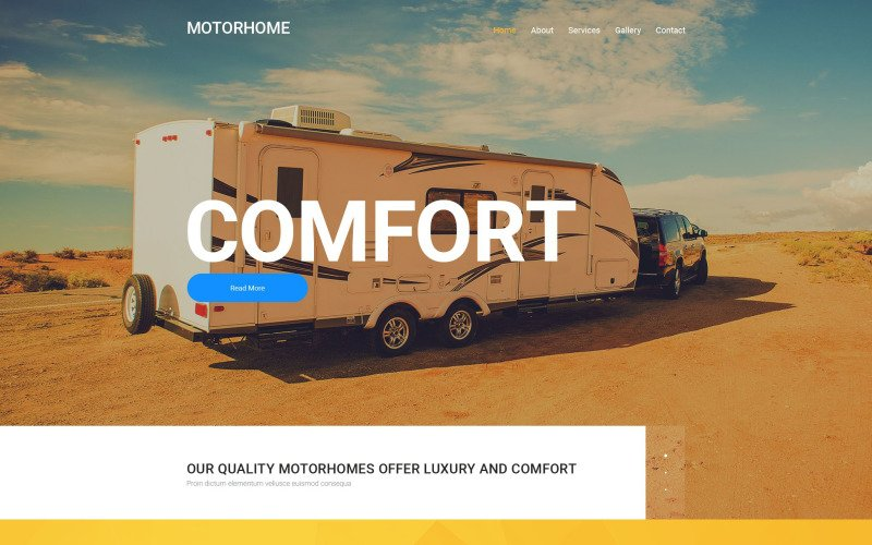 Motorhome Website Template