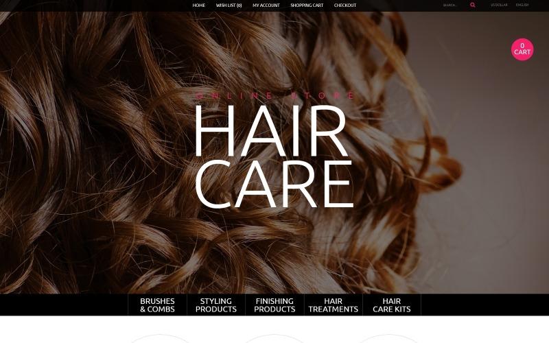 Plantilla OpenCart para el cuidado del cabello