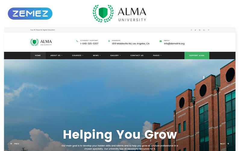 ALMA-大学多页HTML网站模板