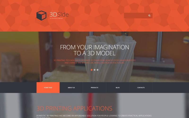 3D Side WordPress Theme