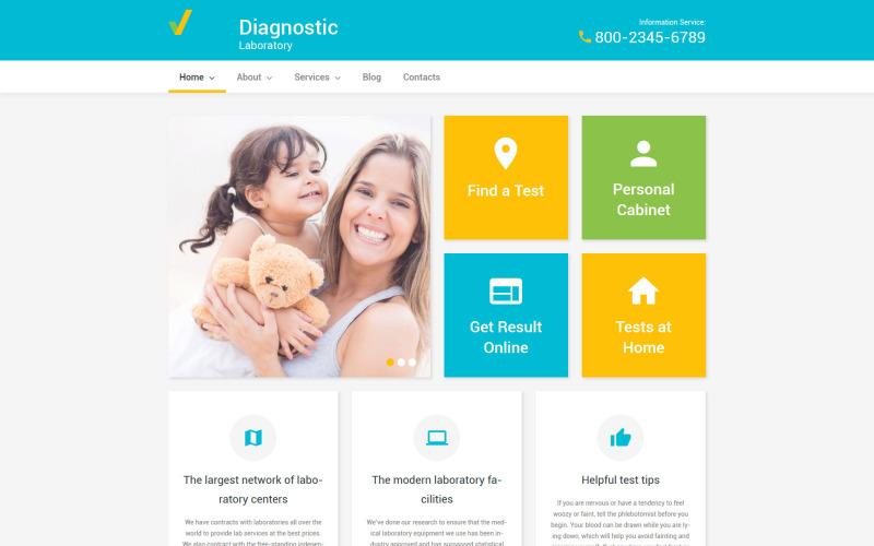 Diagnostiskt laboratorium WordPress-tema