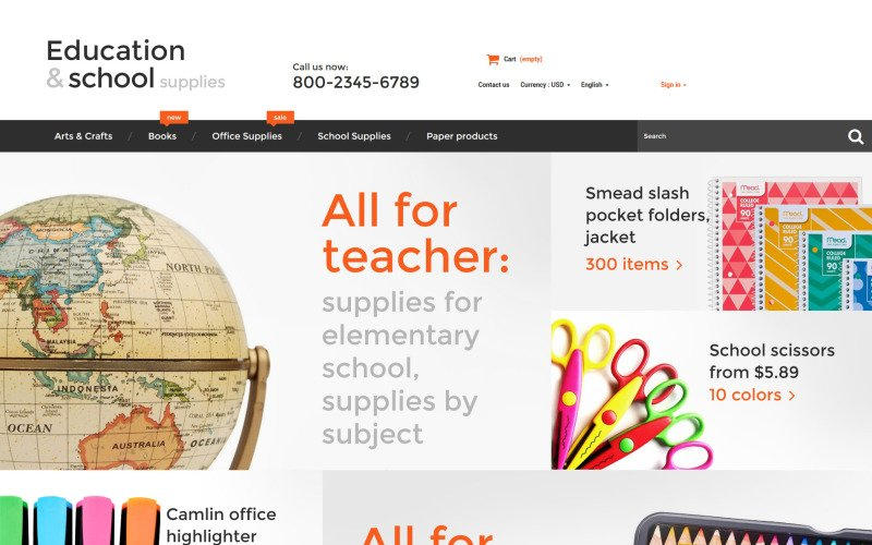Education  School Supplies PrestaShop Theme