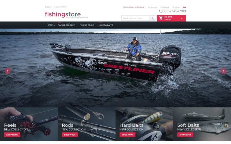 Fishing Store Magento Theme