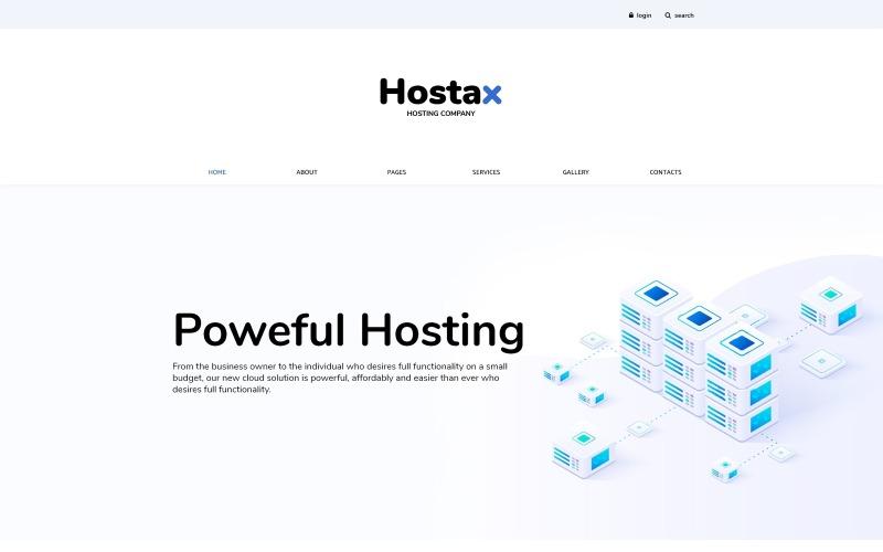 Hostax - Hospedaje de plantilla Joomla limpia