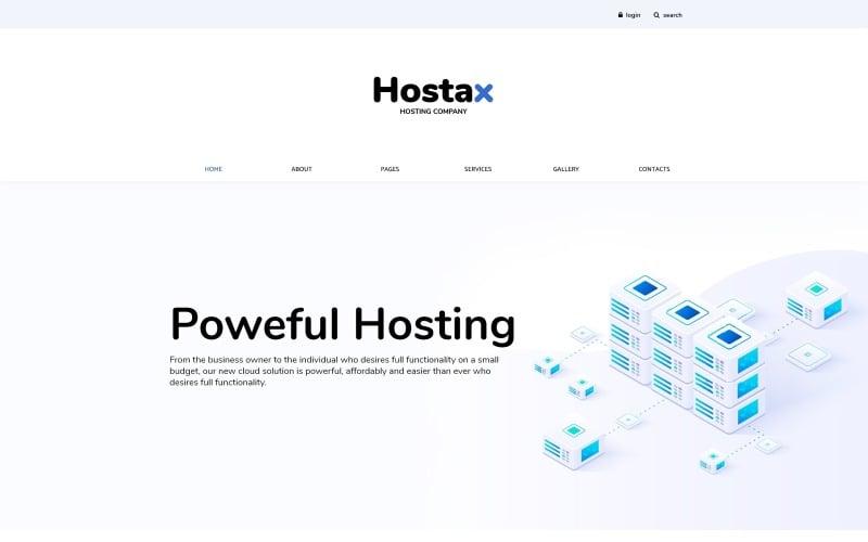 Hostax - Hosting Clean Joomla Template