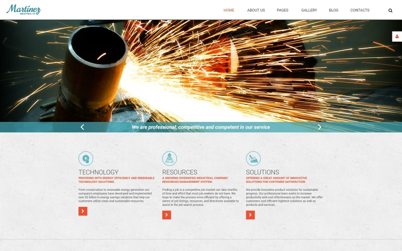 Martinez - Industrial Multipage Modern Joomla Template