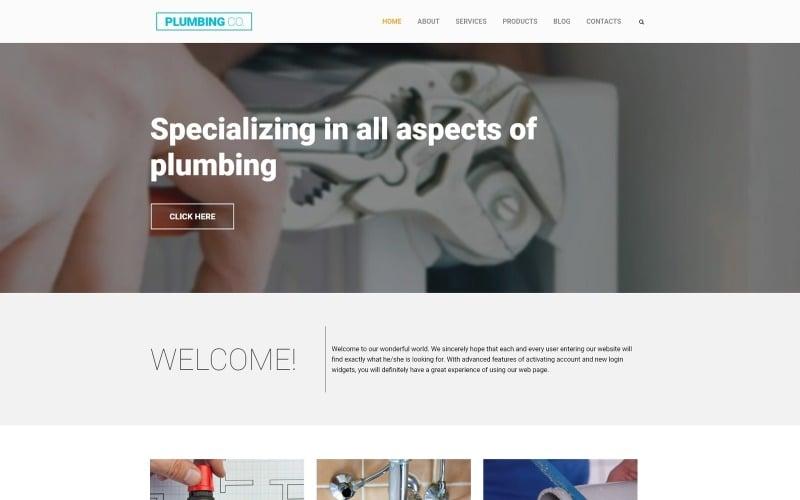 Plumbing Co WordPress Theme