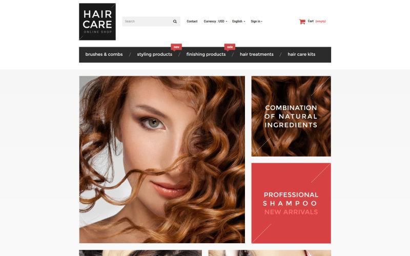 PrestaShop téma Lesk na vlasy