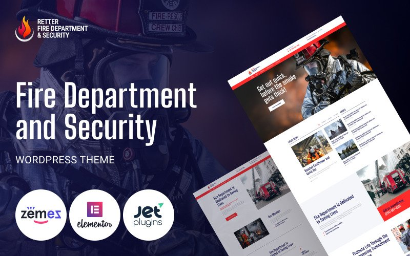 Retter - Fire Department and Security WordPress Theme