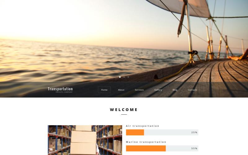 Transport Prywatna firma motyw WordPress