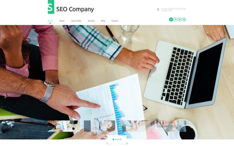 WordPress тема компании SEO