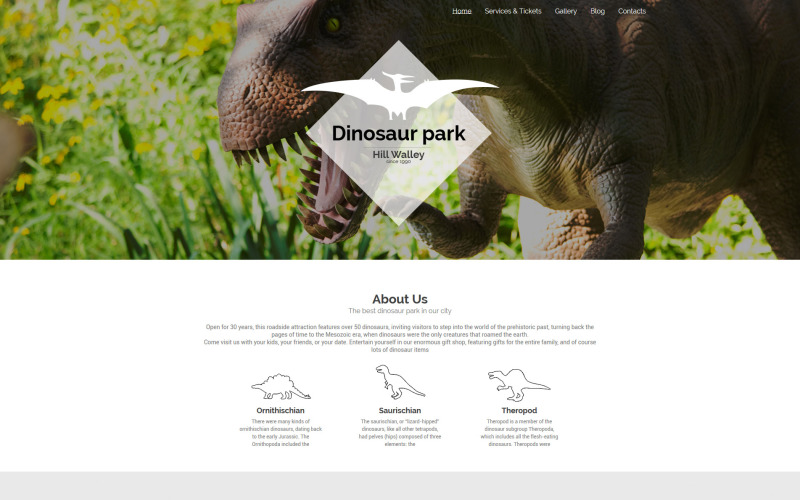 Dinosaur Park WordPress Theme