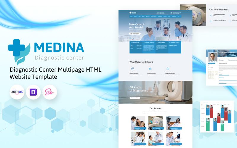Medina - Діагностичний центр Багатосторінковий HTML-шаблон веб-сайту