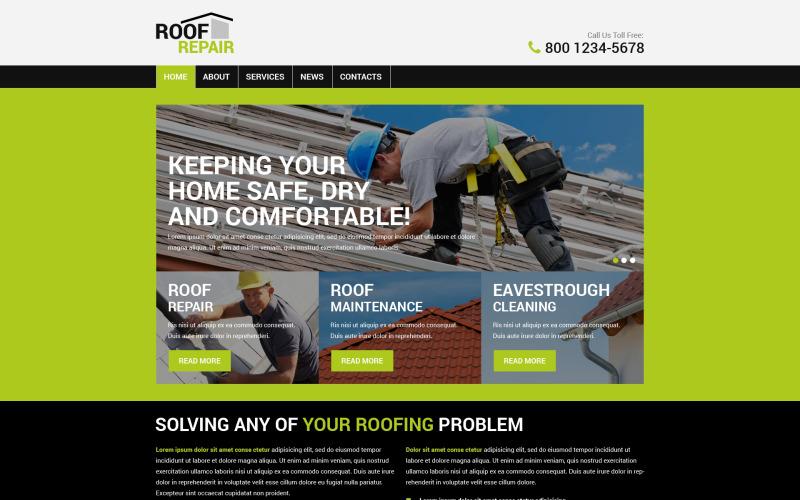 Šablona PSD pro opravu střechy