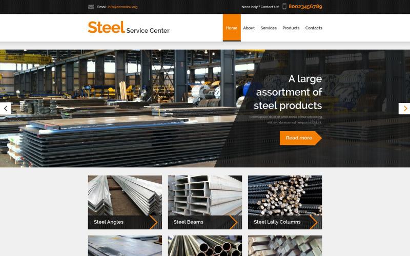 Steel Service Center PSD Template