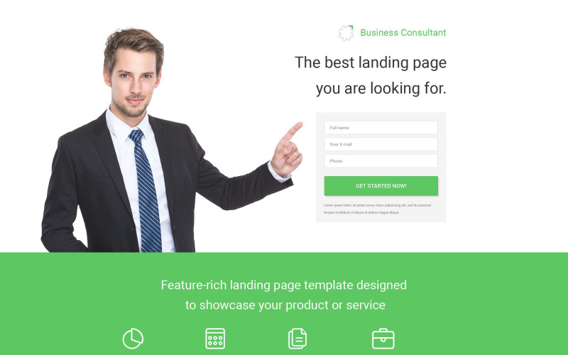 Business Consultant PSD Template