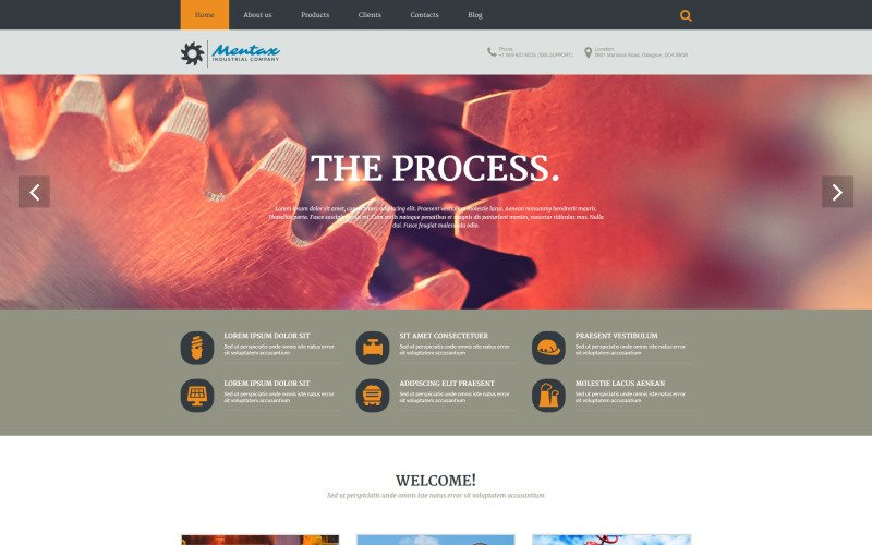 Industrial Company PSD Template