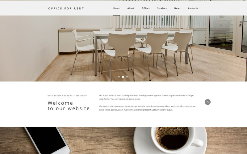 Office For Rent PSD Template