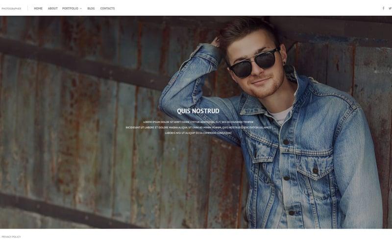 Online Portfolio PSD Template