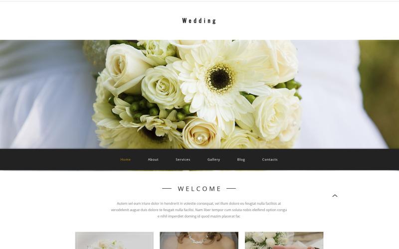Plantilla PSD de boda