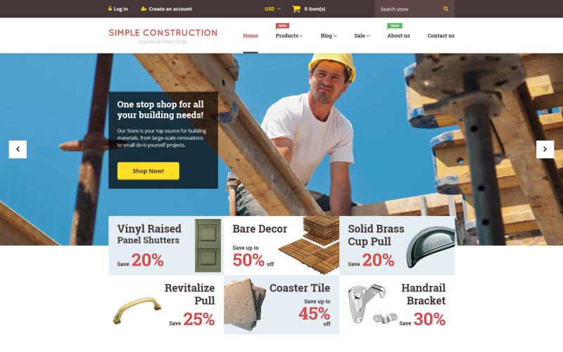 Простая тема для строительства Shopify