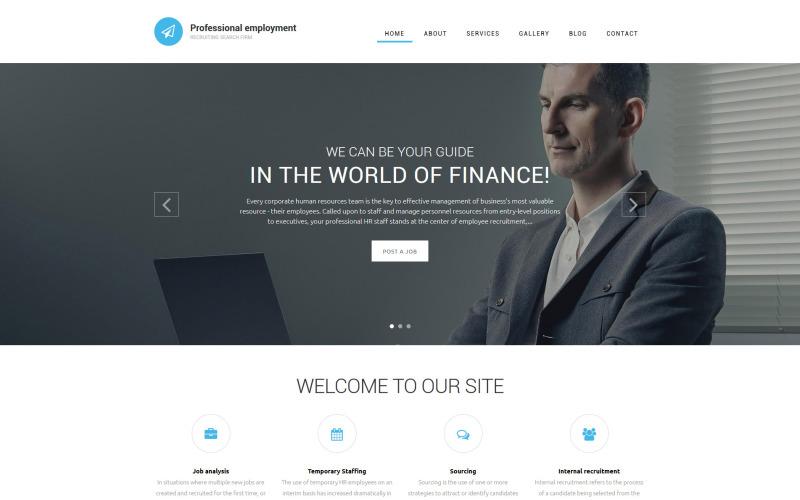 Шаблон Drupal для профессиональной занятости