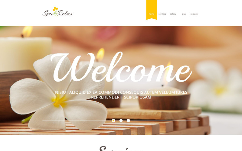 SPA Relax PSD Template