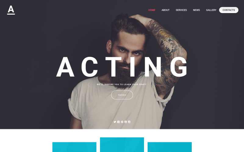 Acting Art Website Template