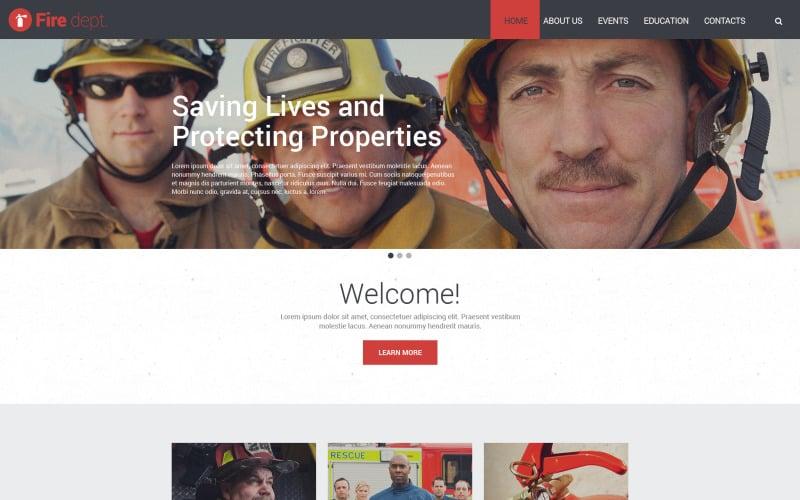 Fire Dept. Website Template