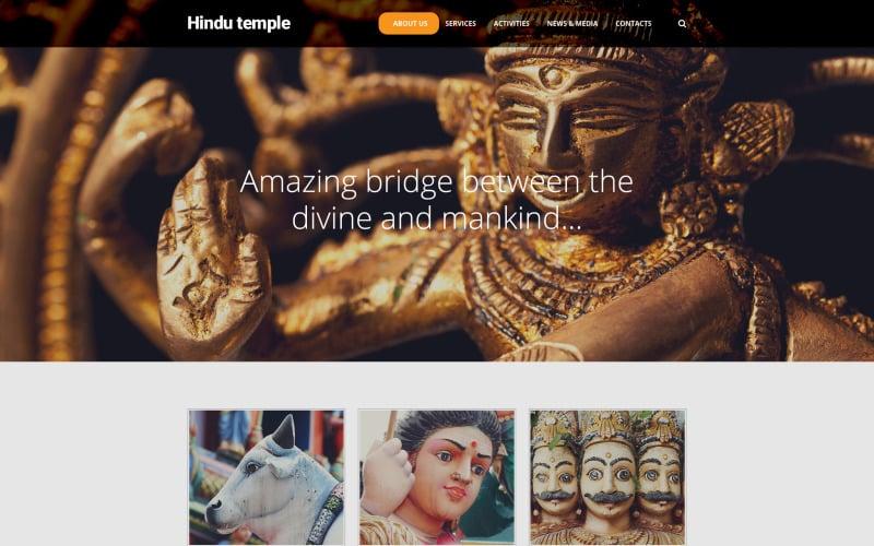 Hindu Temple Website Template