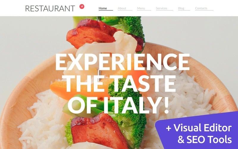 Modelo de Moto CMS 3 de restaurante italiano