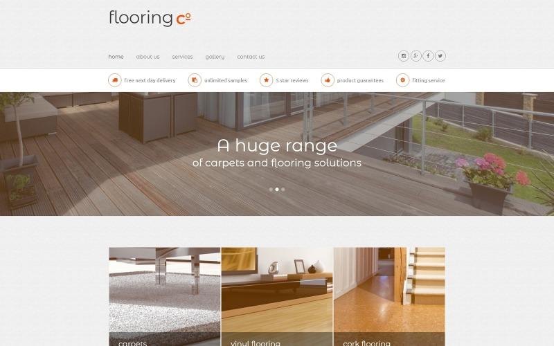 Šablona webových stránek Flooring Co.