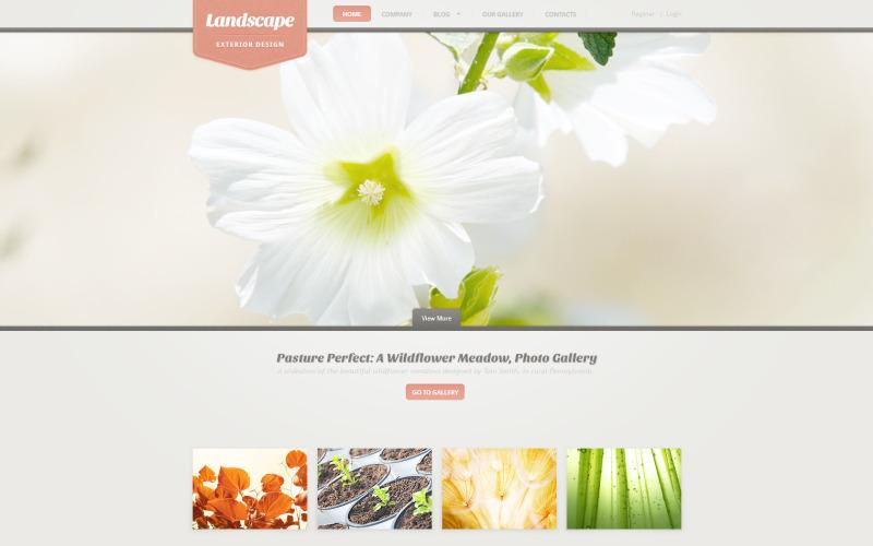 Plantilla PSD de diseño de paisaje