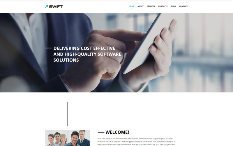Business & Services Responsive Website Template