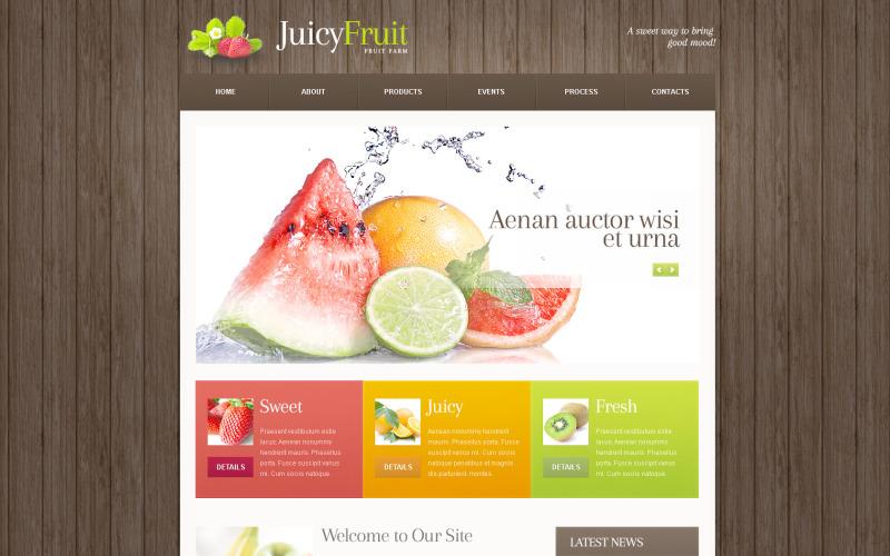 Fruit PSD-sjabloon