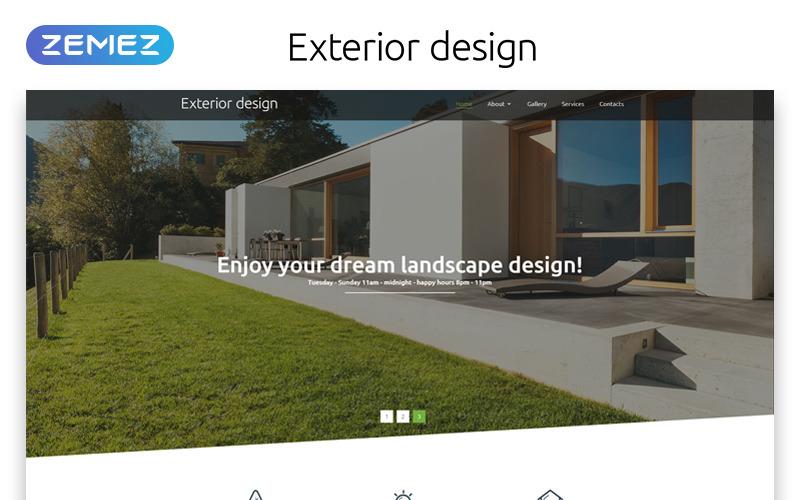 Außendesign - Landschaftsorientierte moderne HTML-Website-Vorlage