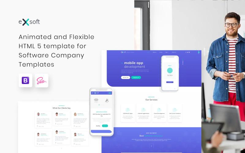 eXsoft - Plantilla de sitio web adaptable para empresas de software