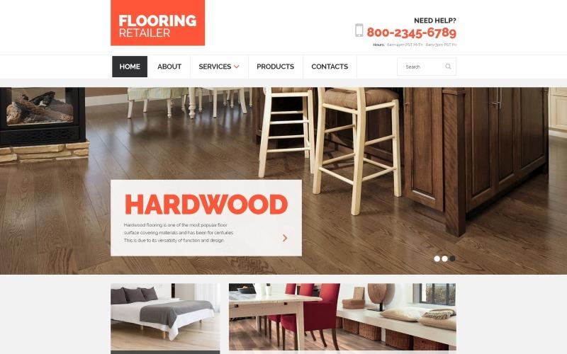 Flooring - Plantilla de sitio web HTML limpio y receptivo para muebles