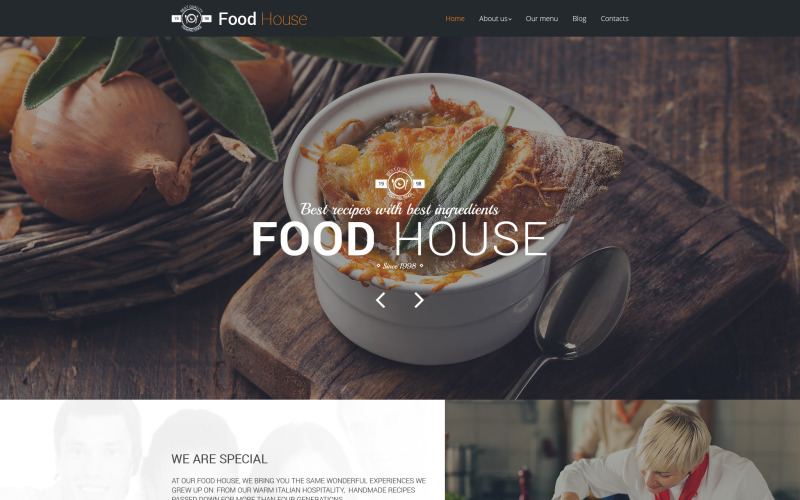 Food House Drupal Vorlage