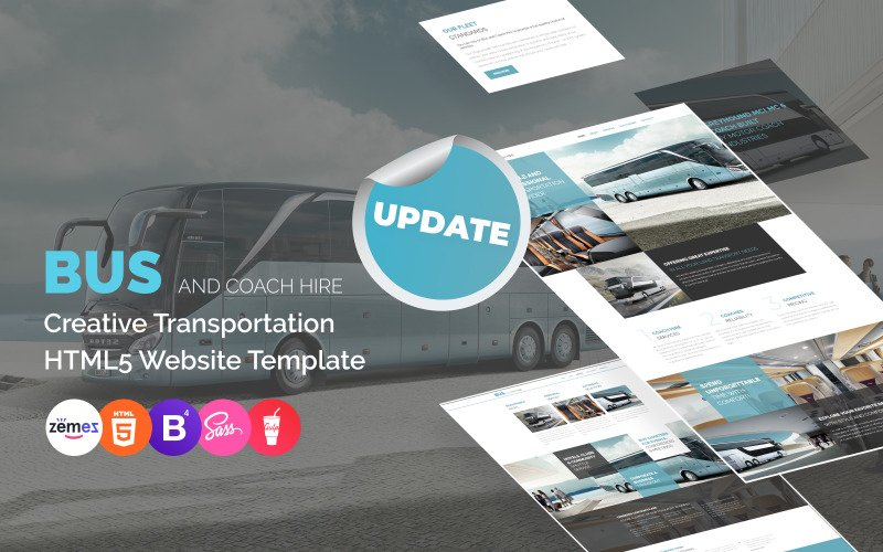 Modèle de site Web de location d'autobus et d'autocars
